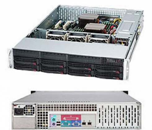 Корпус Supermicro CSE-825TQ-600LP, 2U